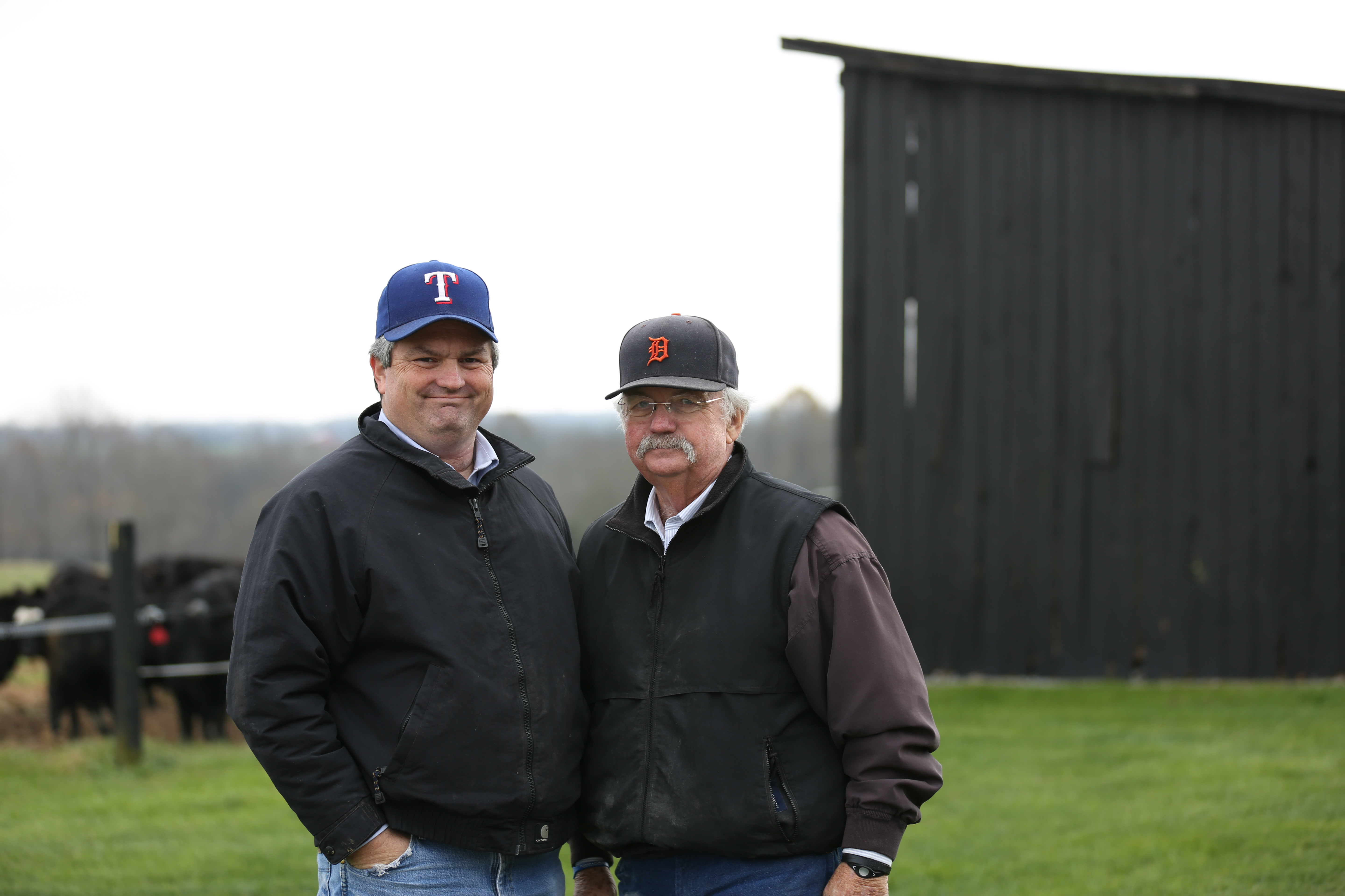 Scott (left) and his father Billy (right) have always enjoyed their commercial Angus herd. However, it wasn't until they both retired from careers as agriculture teachers and FFA advisors that they were able to transition the focus of their herd to producing high quality beef.