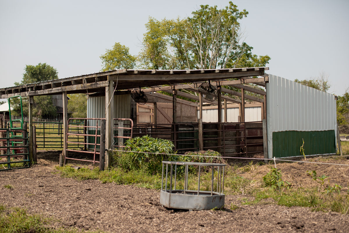 Ken Hartzell's derecho barn damage