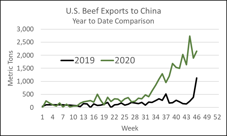 US beef exports to China