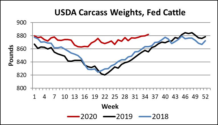USDA carc weights