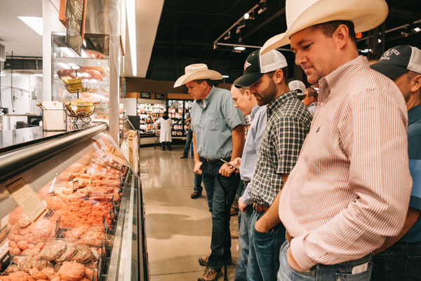 meat case and cowboys