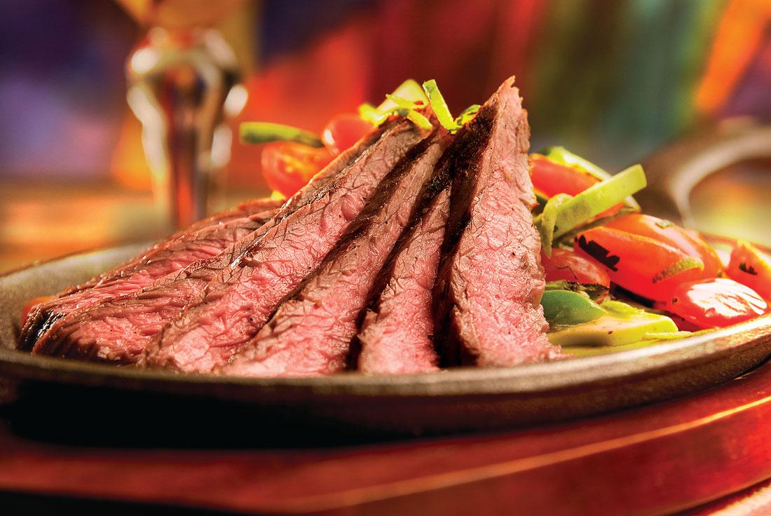 CAB flank steak fajitas