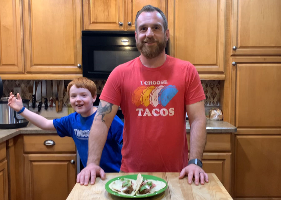 Chef Gavin Pinto and his son